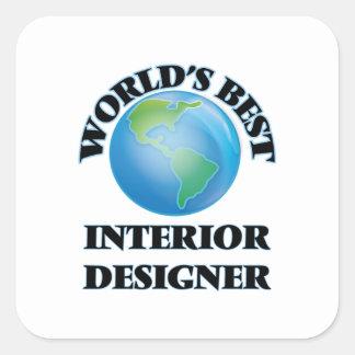 World's Best Interior Designer Square Sticker
