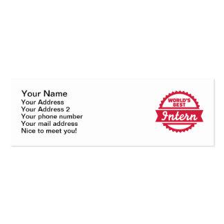 World's best Intern Mini Business Card