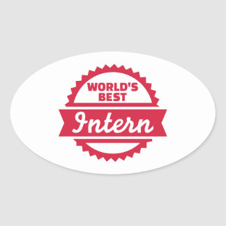 World's best Intern Oval Sticker