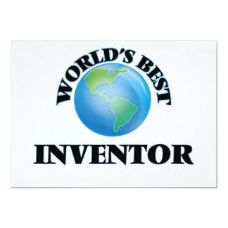 "World's Best Inventor 5"" X 7"" Invitation Card"