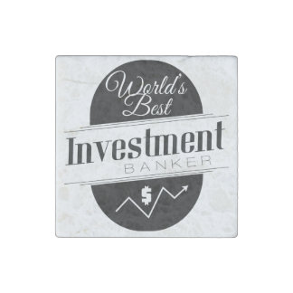 World's Best Investment Banker Stone Magnet