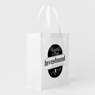 World's Best Investment Banker Reusable Grocery Bag