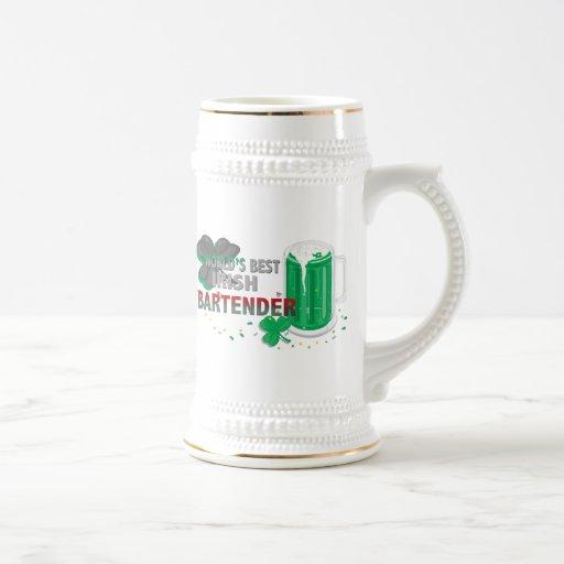 World's best Irish Bartender Gifts 18 Oz Beer Stein