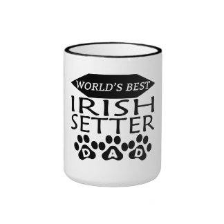 World's Best Irish Setter Dad Ringer Coffee Mug