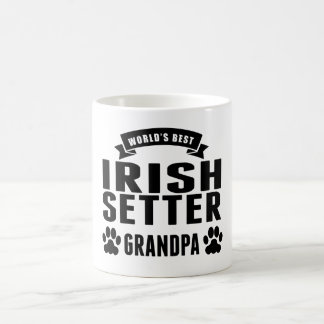 World's Best Irish Setter Grandpa 11 Oz Magic Heat Color-Changing Coffee Mug
