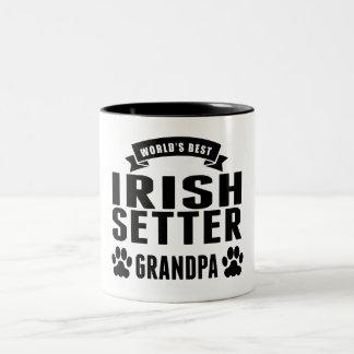 World's Best Irish Setter Grandpa Two-Tone Coffee Mug