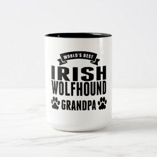 World's Best Irish Wolfhound Grandpa Two-Tone Coffee Mug