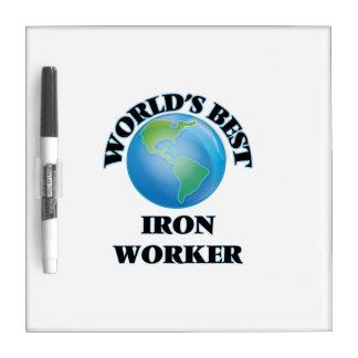 World's Best Iron Worker Dry-Erase Whiteboard