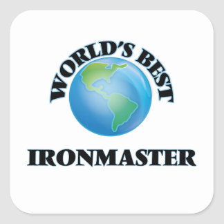 World's Best Ironmaster Square Stickers