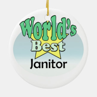 World's best Janitor Ceramic Ornament