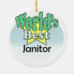 World's best Janitor Ornament