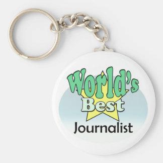 World's best journalist keychain