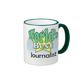 World's best journalist ringer coffee mug