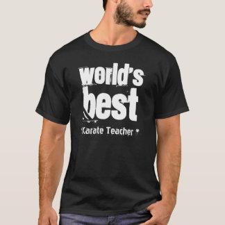 World's Best KARATE TEACHER Big Grunge Letters T-Shirt