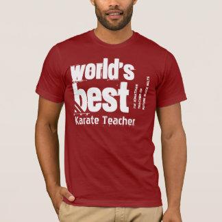 World's Best Karate Teacher Name Striped Letters T-Shirt