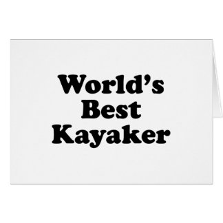 world's Best Kayaker Card