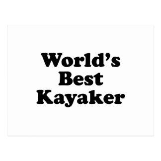world's Best Kayaker Postcard