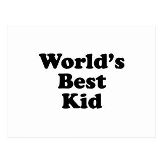 World's Best Kid Postcard
