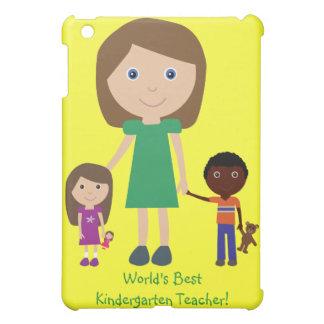 World's Best Kindergarten Teacher Cute Cartoon Cover For The iPad Mini