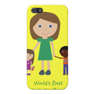 World's Best Kindergarten Teacher Cute Cartoon iPhone 5 Covers