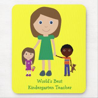 World's Best Kindergarten Teacher Cute Cartoon Mouse Pads