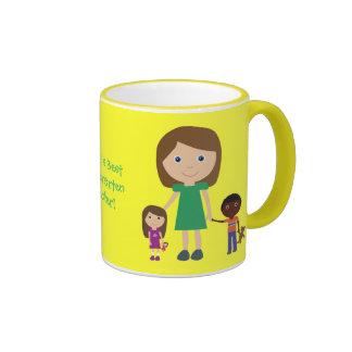 World's Best Kindergarten Teacher Cute Cartoon Coffee Mugs