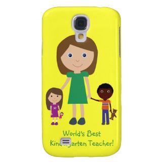 World's Best Kindergarten Teacher Cute Cartoon Samsung S4 Case