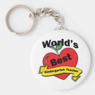 World's Best Kindergarten Teacher Keychain