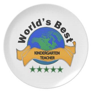 World's Best Kindergarten Teacher Plate