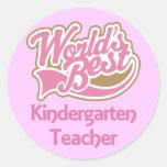 Worlds Best Kindergarten Teacher Stickers