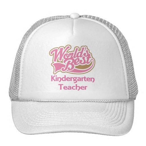 Worlds Best Kindergarten Teacher Trucker Hat