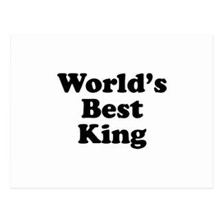 World's Best King Postcard