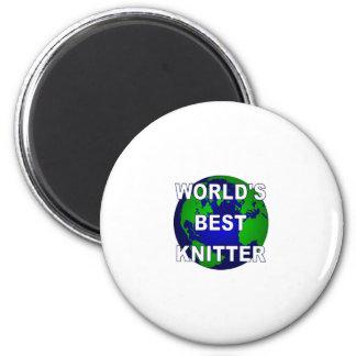 World's Best Knitter 2 Inch Round Magnet