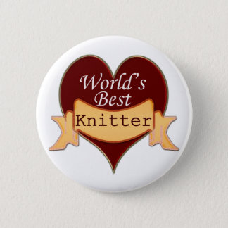 World's Best Knitter Pinback Button