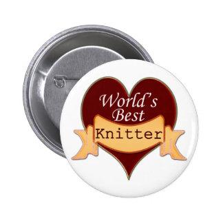 World's Best Knitter Pinback Button