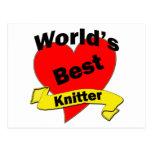 World's Best Knitter Post Card
