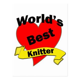 World's Best Knitter Postcard