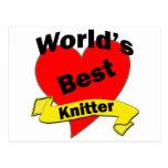 World's Best Knitter Postcards