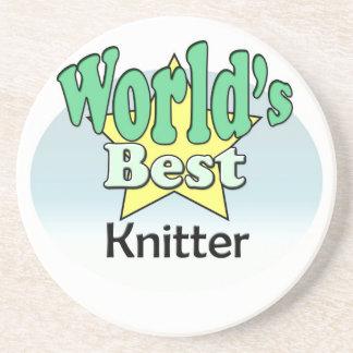 World's best Knitter Sandstone Coaster