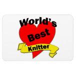 World's Best Knitter Vinyl Magnets