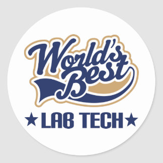 Worlds Best Lab Tech Classic Round Sticker