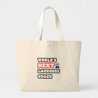 World's Best Lacrosse Coach Canvas Bags