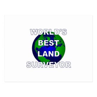 World's Best Land Surveyor Postcard