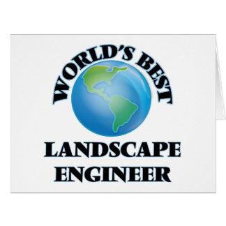 World's Best Landscape Engineer Card