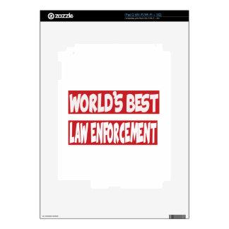 World's Best law enforcement. iPad 2 Decal