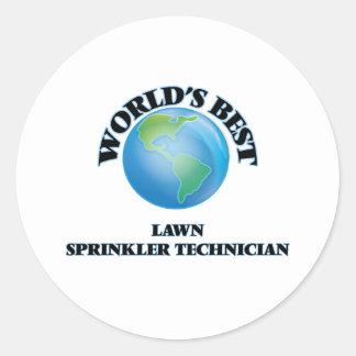 World's Best Lawn Sprinkler Technician Round Sticker