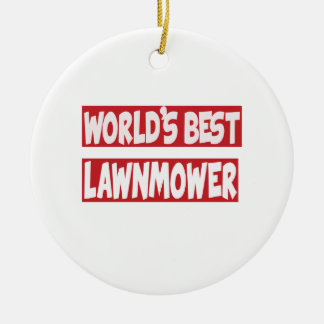 World's Best lawnmower. Christmas Ornaments