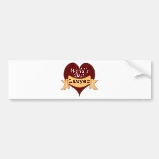 World's Best Lawyer Bumper Sticker