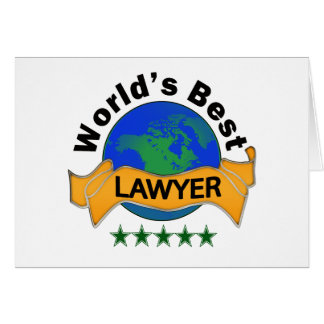 World's Best Lawyer Card