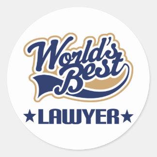 Worlds Best Lawyer Classic Round Sticker